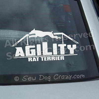 Rat Terrier Agility Dog Walk Window Decals
