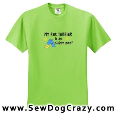 Agility Dog Rat Terrier Tees