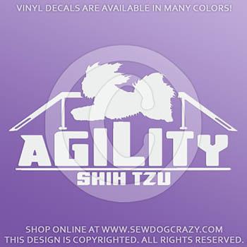 Vinyl Shih Tzu Agility Decals