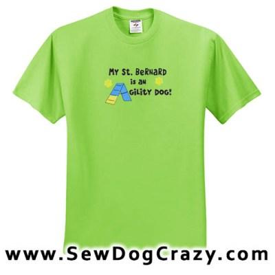 St Bernard Agility Tshirt