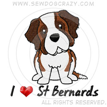 I Love St Bernards Shirts