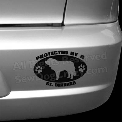 Protected by a Saint Bernard Bumper Sticker