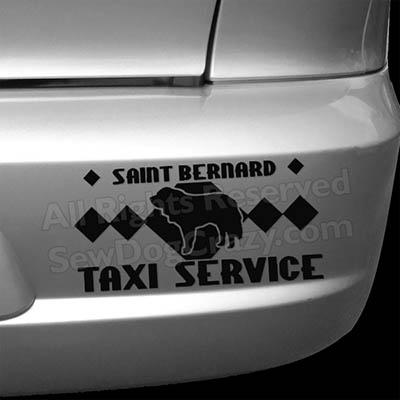 Saint Bernard Taxi Bumper Stickers
