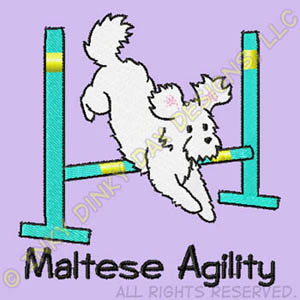 Maltese Agility Embroidery Apparel
