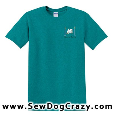 Cartoon Westie Bar Jump TShirt