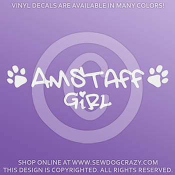 AmStaff Girl Decal