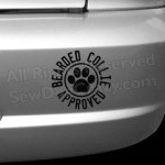 Bearded Collie Approved Decals