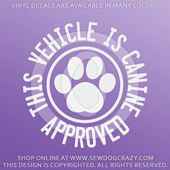 Canine Approved Vinyl Sticker