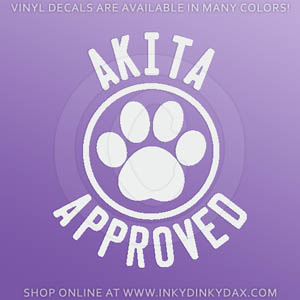 Akita Approved Decal