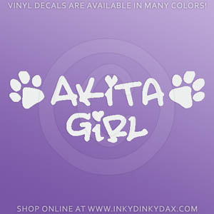 Akita Girl Decal