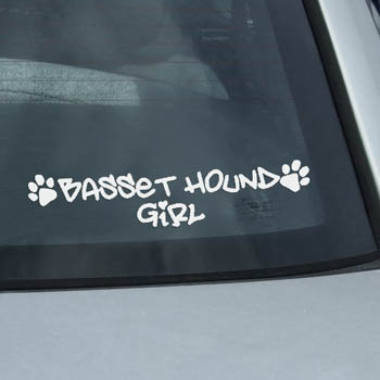 Basset Hound Girl Decal