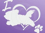 Maltese Dog Sports Sticker