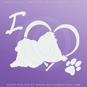 Pomeranian Dog Sports Decal