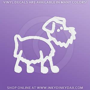Schnauzer Stick Figure Dog Decal