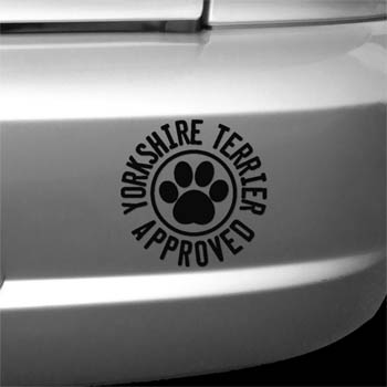 Yorkie Approved Decal