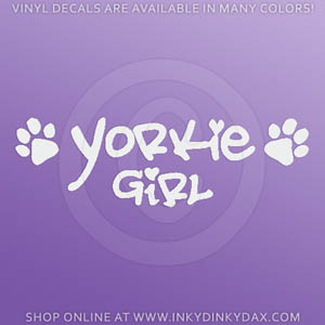 Yorkie Girl Decal