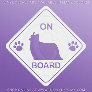 Yorkie On Board Decal