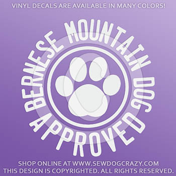 Bernese Mountain Dog Vinyl Decals