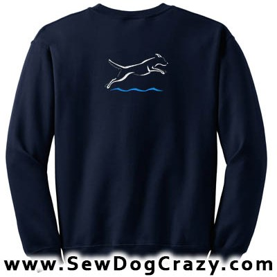 Embroidered Dock Diving Sweatshirts