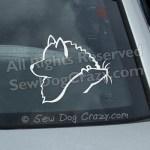 Keeshond Rat Car Window Sticker