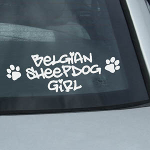 Belgian Sheepdog Girl Decals