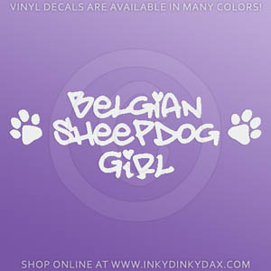 Belgian Sheepdog Girl Decal