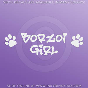 Borzoi Girl Decal