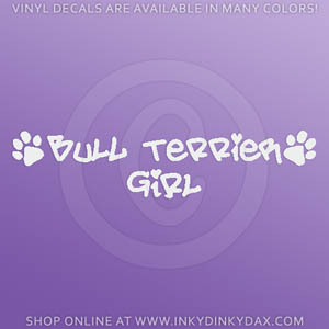 Bull Terrier Girl Decals