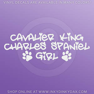 Cavalier King Charles Spaniel Girl Decals