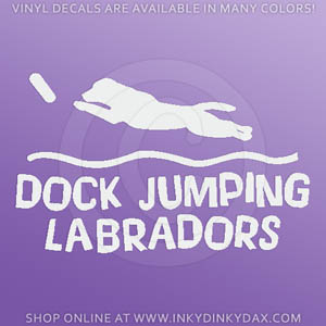Labrador Retriever Dock Jumping Decals