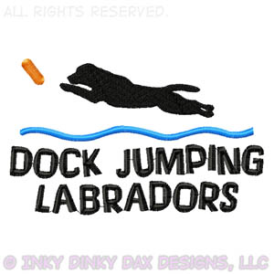 Dock Jumping Labrador Retriever Apparel