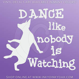 Dog Dancing Decals