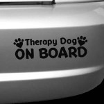 Therapy Dog On Board Decal