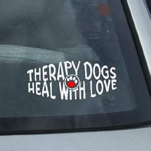 Therapy Dog Decal