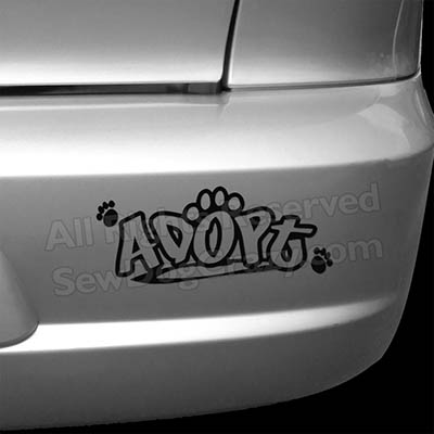 Adopt a Dog Bumper Sticker