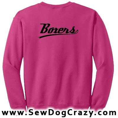 Boxer dog Baseball Sweatshirt