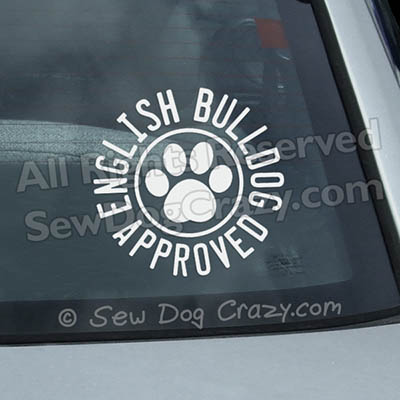English Bulldog Window Stickers