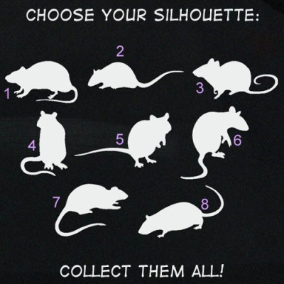 Rat Silhouette Decals