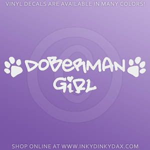 Doberman Girl Decals