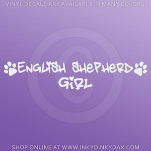 English Shepherd Girl Decals