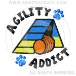 Embroidered Dog Agility Addict Gifts