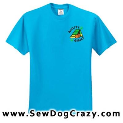 A-frame Dog Agility Addict Tshirt