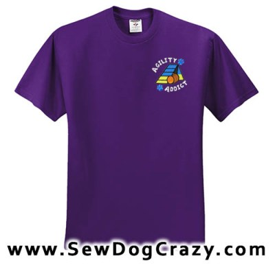 Embroidered Agility Addict Tshirt