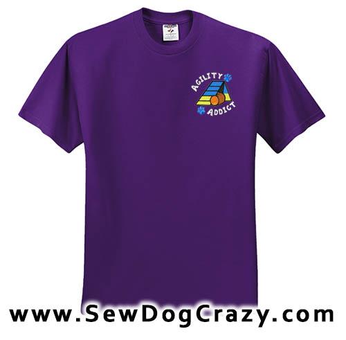 Embroidered Agility Addict Tshirt