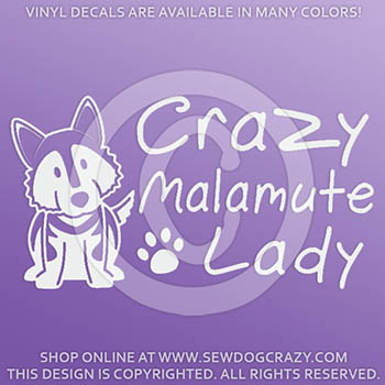 Crazy Malamute Lady Decals