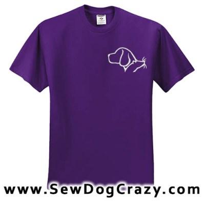 Embroidered Beagle Barn Hunt Tshirt