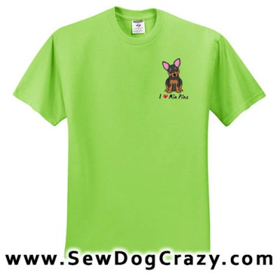 Cartoon Min Pin Tshirts