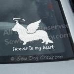 Angel Cardigan Welsh Corgi Car Decals