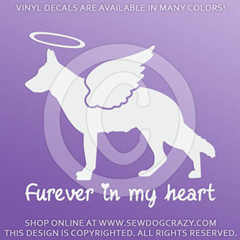 Angel German Shepherd Decals