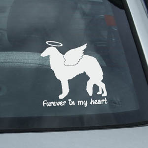 Angel Borzoi Decal